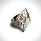 Žiedas - auksas 750, smaragdas