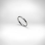 Sužadėtuvių žiedas Nr. 219 - baltas auksas 750, briliantai