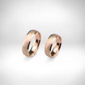 Vestuviniai žiedai Nr. 215 - raudonas auksas 585