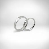 Vestuviniai žiedai Nr. 214 - baltas auksas 585, briliantai