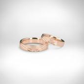 Vestuviniai žiedai Nr. 213 - raudonas auksas 585
