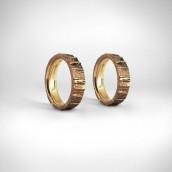 Vestuviniai žiedai Nr. 78 - geltonas auksas 585