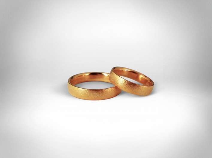 Vestuviniai žiedai Nr. 95 - auksas 585
