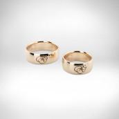 Vestuviniai žiedai Nr. 131 - raudonas auksas 585