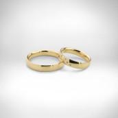 Vestuviniai žiedai Nr. 133 - geltonas auksas 750, briliantai