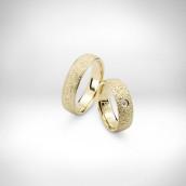 Vestuviniai žiedai Nr. 140 - geltonas auksas 585, briliantas