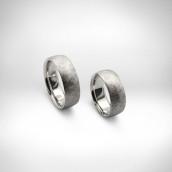 Vestuviniai žiedai Nr. 134 - baltas auksas 585