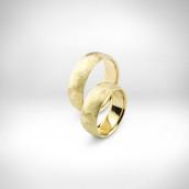 Vestuviniai žiedai Nr. 141 - geltonas auksas 585