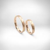 Vestuviniai žiedai Nr. 139 - raudonas auksas 585
