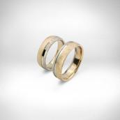 Vestuviniai žiedai Nr. 148 - raudonas ir baltas auksas 585, briliantai