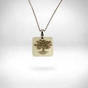 Pakabukas - baltas auksas 585