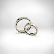 Vestuviniai žiedai Nr. 174 - baltas auksas 585, briliantai