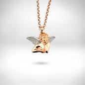 Pakabukas-angelas - auksas 585, rodavimas