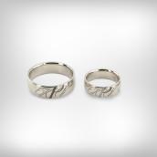 Vestuviniai žiedai Nr. 185 - Baltas auksas 585, briliantai