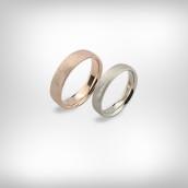 Vestuviniai žiedai Nr. 183 - raudonas ir baltas auksas