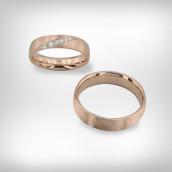 Vestuviniai žiedai Nr. 192 - raudonas auksas 585, briliantai