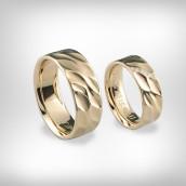 Vestuviniai žiedai Nr. 189 - raudonas auksas 585, briliantai
