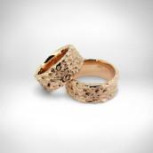 Vestuviniai žiedai - rausvas auksas 585