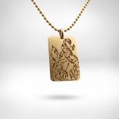 Pakabukas Šv. Kristoforas - auksas 585