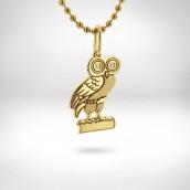 Pakabukas Pelėda - auksas 585, briliantai