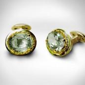 Rankogalių sąsagos - auksas 750, akvamarinai