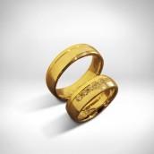 Vestuviniai žiedai - auksas 585, briliantai