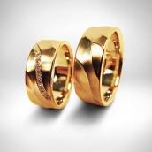 Vestuviniai žiedai Nr. 19 - auksas 585, briliantai. Bendra masė 0.2 ct (VVS, F+ )