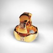 Vestuviniai žiedai Nr. 18 - auksas 585, briliantai. Bendra masė 2.09 ct (VVS, F-G)