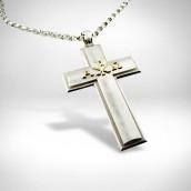 Šventiko kryžius su grandinėle - sidabras 925, auksas 585