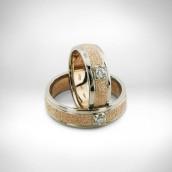 Vestuviniai žiedai - auksas 585 ,briliantai 0.10ct