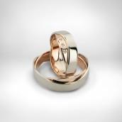 Vestuviniai žiedai - auksas 585, deimantai