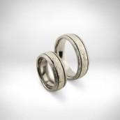 Vestuviniai žiedai-titanas, auksas 750