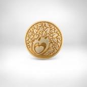 Ženklas-apdovanojimas Taurioji širdis - sidabras 935, auksavimas