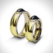 Vestuviniai žiedai - auksas 750, safyrai