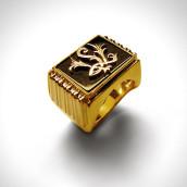 Žiedas - auksas 585, agatas