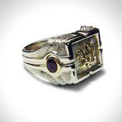 Žiedas - auksas 585, rubinai