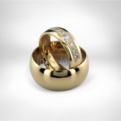 Vestuviniai žiedai • Auksas 750, brilijantai