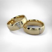 Vestuviniai žiedai • Auksas 585, brilijantai