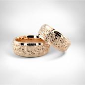Vestuviniai žiedai • Rausvas auksas 585
