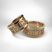 Vestuviniai žiedai • Rausvas auksas 585, ažūras