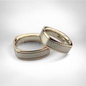 Vestuviniai žiedai • Baltas, rausvas auksas 585