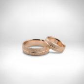Vestuviniai žiedai Nr. 256 - raudonas auksas 585