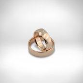 Vestuviniai žiedai Nr. 242 - raudonas auksas 585, briliantai