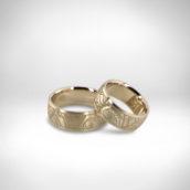 Vestuviniai žiedai Nr. 271 - baltas auksas 585, briliantai 0.063 ct FG VS2
