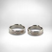 Vestuviniai žiedai Nr. 266 - baltas auksas, briliantas