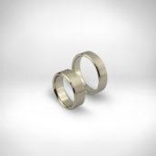 Vestuviniai žiedai Nr. 243 - baltas auksas 585