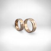 Vestuviniai žiedai Nr. 267 - raudonas auksas 585