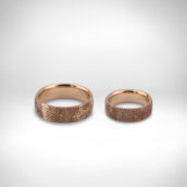 Vestuviniai žiedai Nr. 245 - raudonas auksas 585
