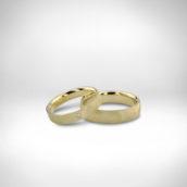 Vestuviniai žiedai Nr. 248 - geltonas auksas 585, briliantas, satinavimas